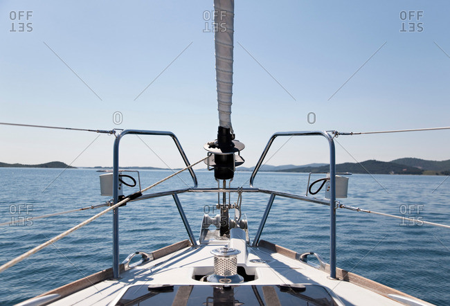 Bow of yacht