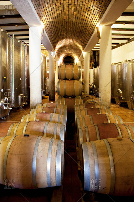 Winery of country hotel