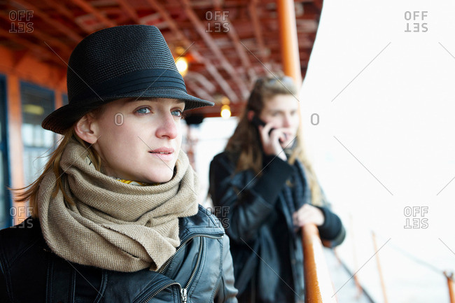 Women on a ferry boat