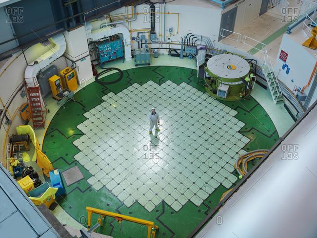 Engineer on Nuclear Reactor Pile cap