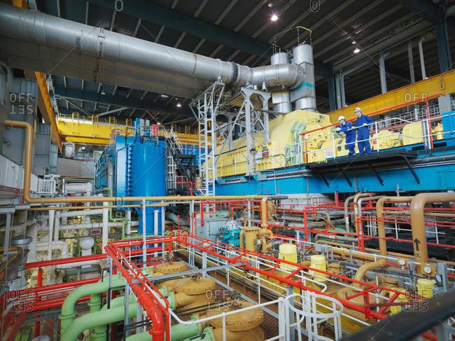 Engineer in Turbine Hall - Offset