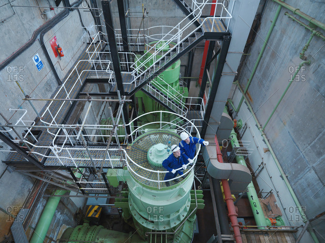 Engineers in Pumping Station - Offset