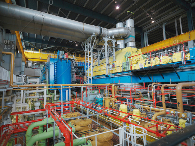 Turbine Hall of Nuclear Power Station