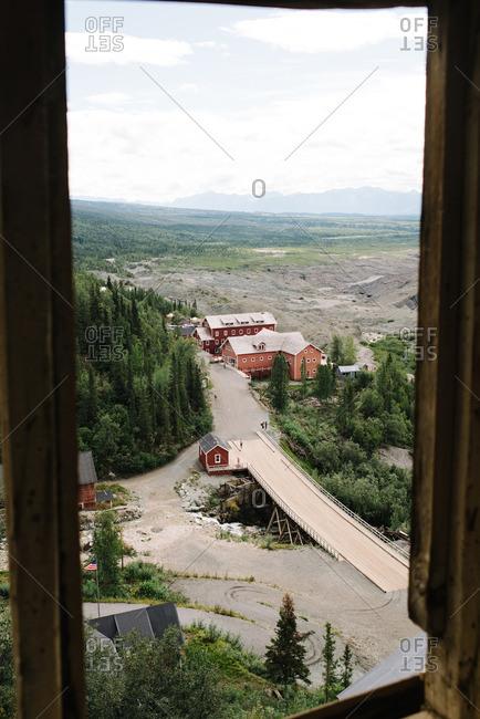 View of the Kennecott Mines National Historic Landmark in Kennecott, Alaska