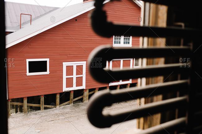 Buildings at the Kennecott Mines National Historic Landmark in Kennecott, Alaska
