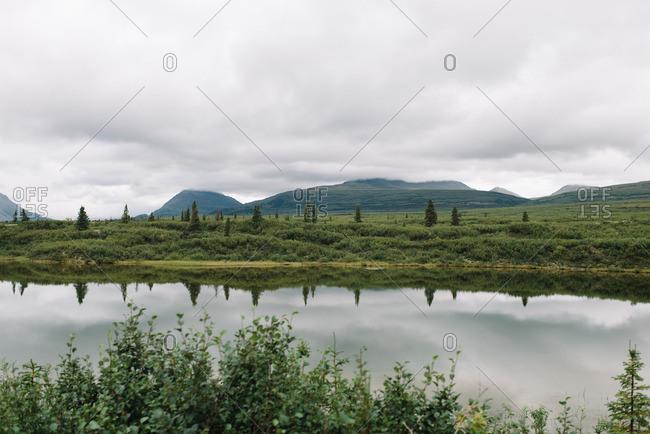 Lake in Denali National Park in Alaska