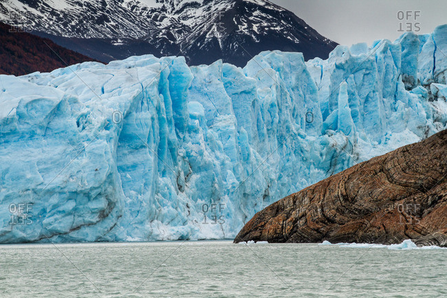 Glacial shore in Argentina