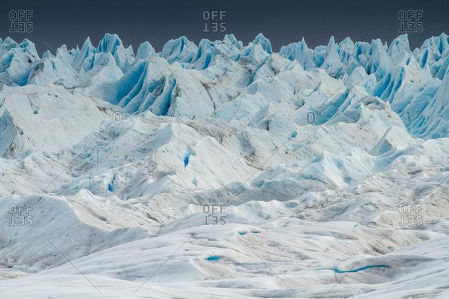 Rugged glacier landscape in Argentina