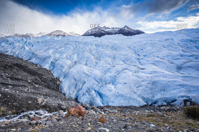 A glacier landscape in Argentina