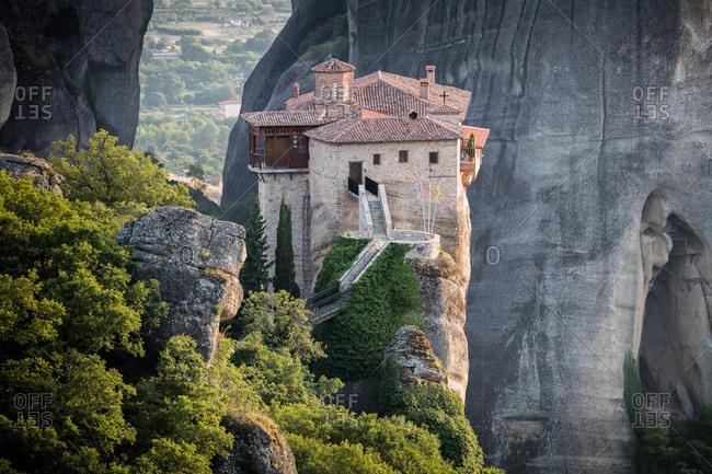 A monastery on mountain summit