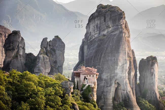 A monastery on mountain peak
