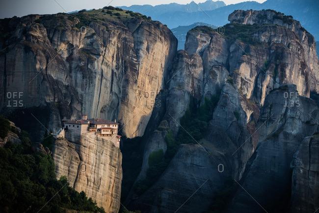 Monastery on mountain peak
