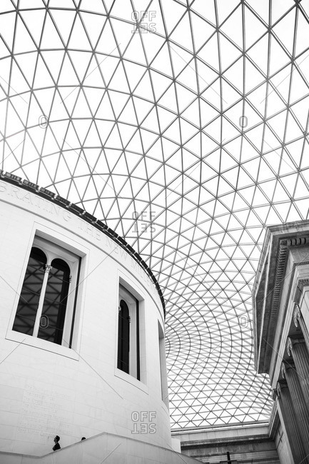 London, England - August 13, 2014: The British Museum interior