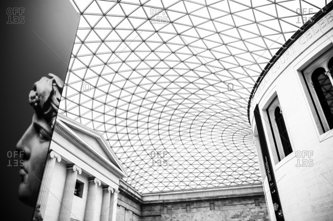 London, England - August 13, 2014: The interior of British Museum