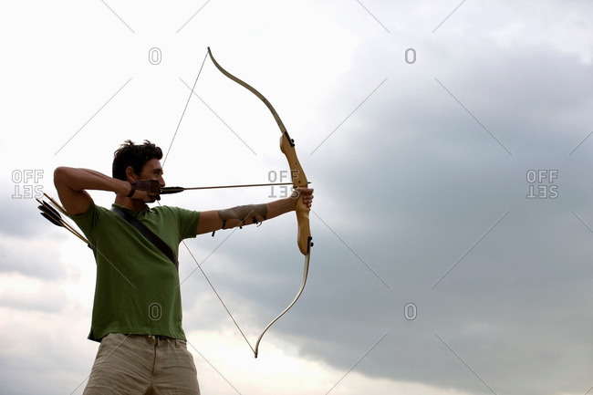 An archer gettting ready