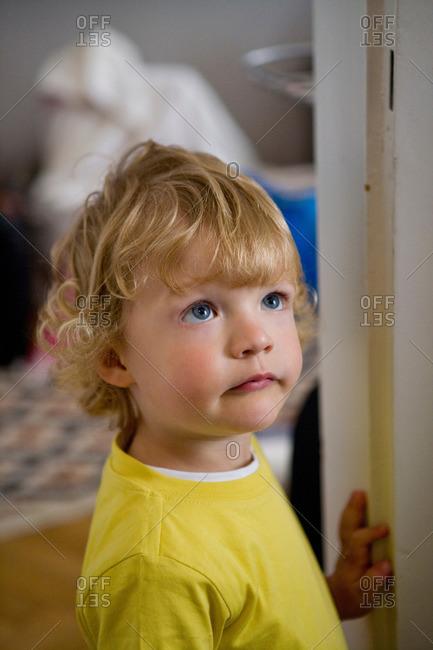 Kid looking up
