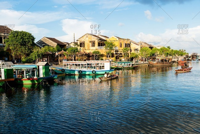 Nha Trang, Vietnam - September 11, 2016: Shore of Hoi An old town