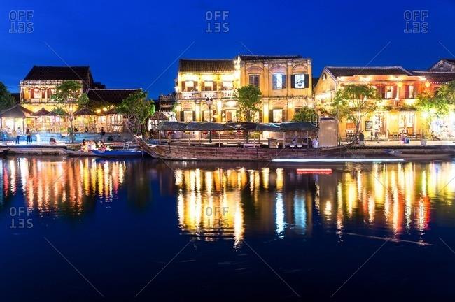 Nha Trang, Vietnam - September 9, 2016: Hoi An old town at night