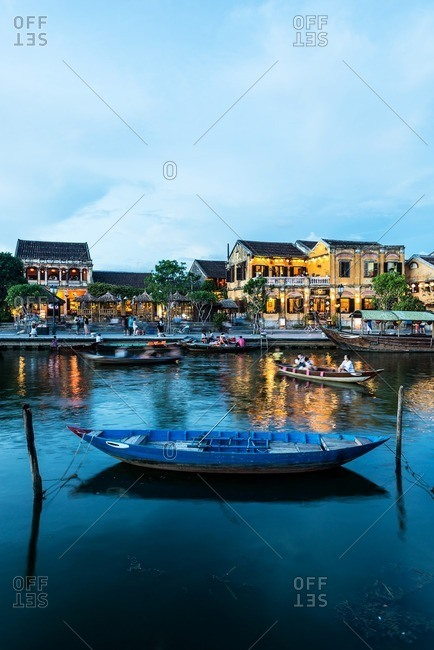 Nha Trang, Vietnam - September 11, 2016: Evening in Hoi An old town