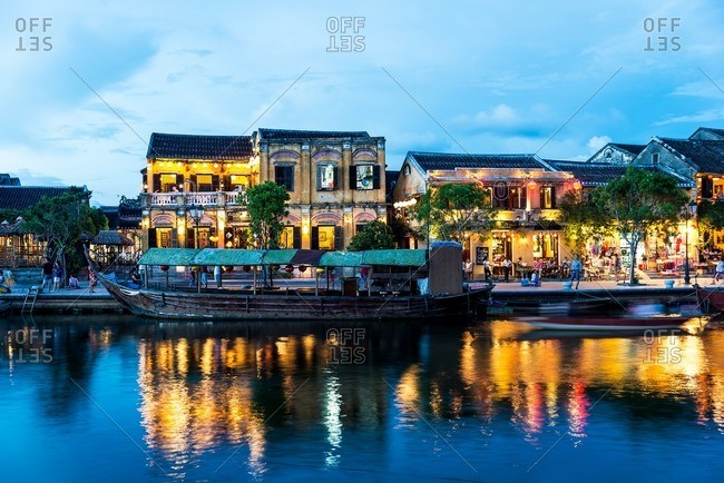 Nha Trang, Vietnam - September 11, 2016: Dusk in Hoi An old town
