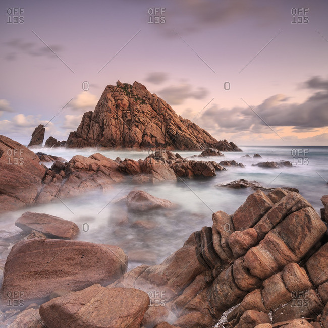 Sugarloaf Rock near Australia's northern Bass Strait