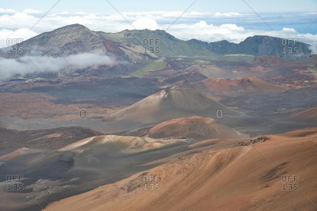 Volcanic landscape of Haleakala National Park, Maui, Hawaii