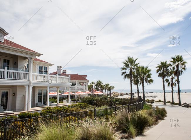 Exterior of beachfront resort