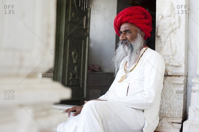 Jawai, Rajasthan, India - April 27, 2015: Rabari Bupa, Jawai, Rajasthan, India
