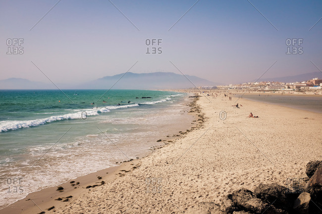 Spain - September 7, 2016: An expanse of sandy beach