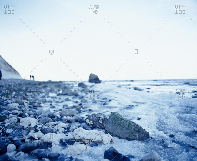 Coast of Mecklenburg-Western Pommerania in the winter