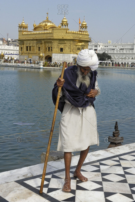 October 12, 2015: The golden temple in Amritsar