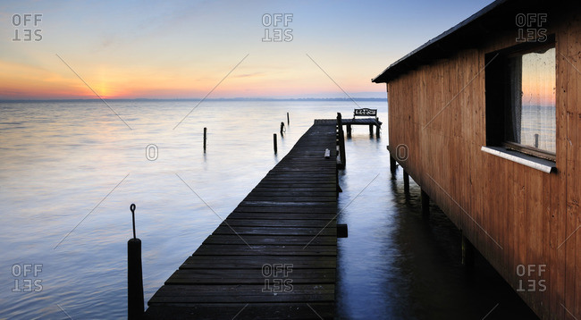 Pier at Schweriner lake in Mecklenburg-West Pomerania