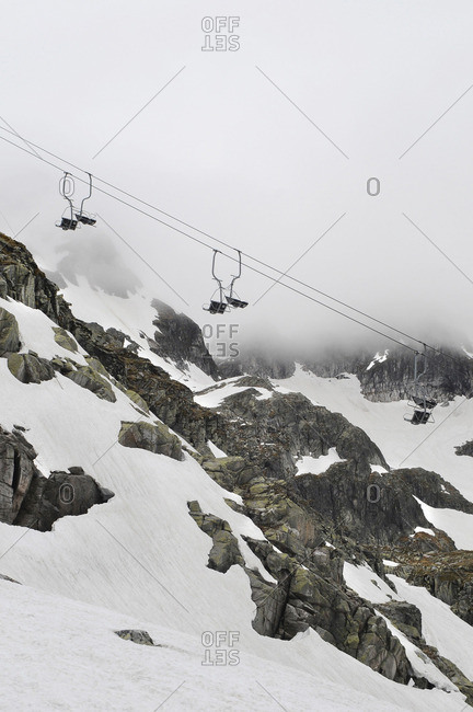 Glacier with chairlift
