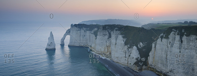 Cliffs on the coastline of the Normandy in France