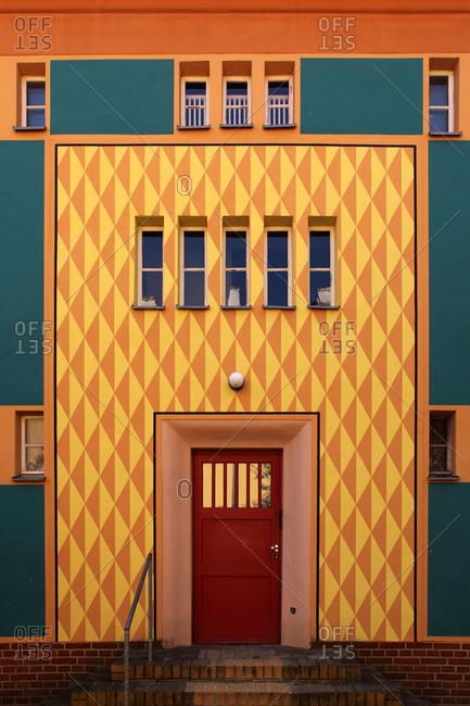 Entrance to Gartenstadt Falkenberg in Berlin