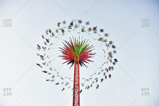 Swing ride on a festival on the Oktoberfest