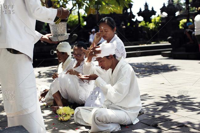 Bali, Indonesia - February 10, 2015: Hindu ritual