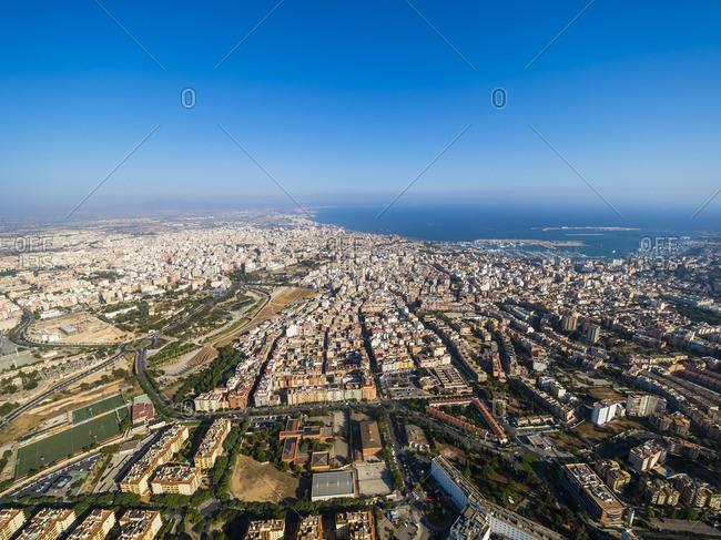 Spain- Balearic Islands- Mallorca- View to Bay of Palma de Mallorca