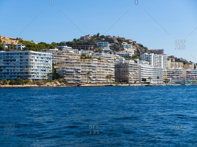 Spain- Mallorca- Santa Ponca- Hotels at beach