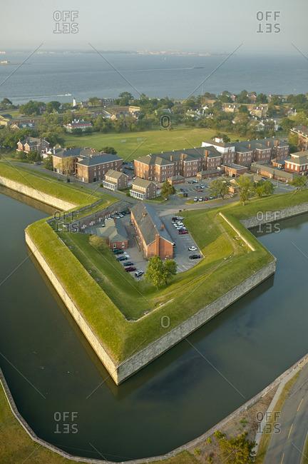 USA- Virginia- Aerial photograph of Fort Monroe in Hampton