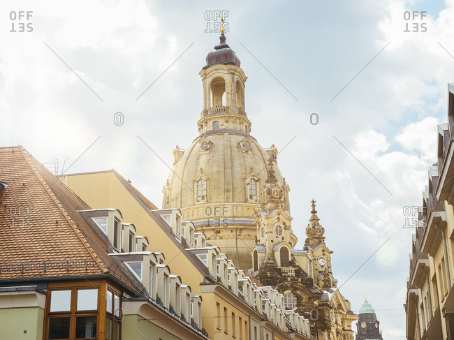 Germany- Dresden- dome of Dresden Frauenkirche