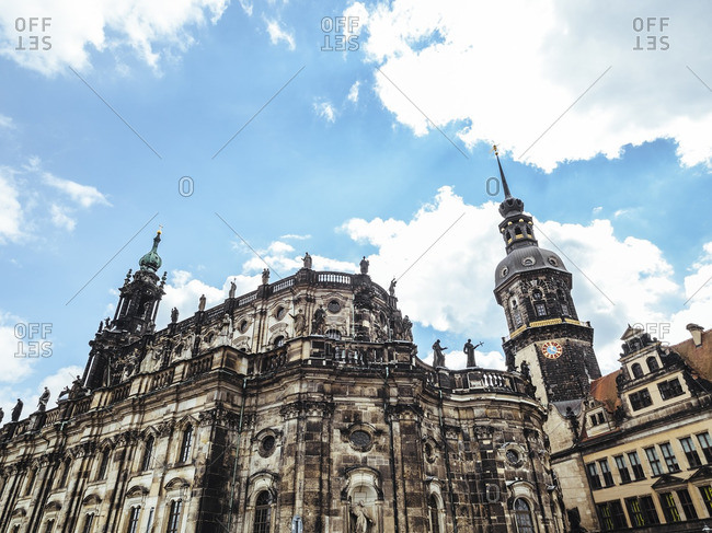 Germany- Dresden- view to Dresden Cathedral