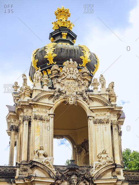 Germany- Dresden- Kronentor at Zwinger Palace