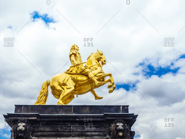 Germany- Dresden- Golden Ride equestrian statue