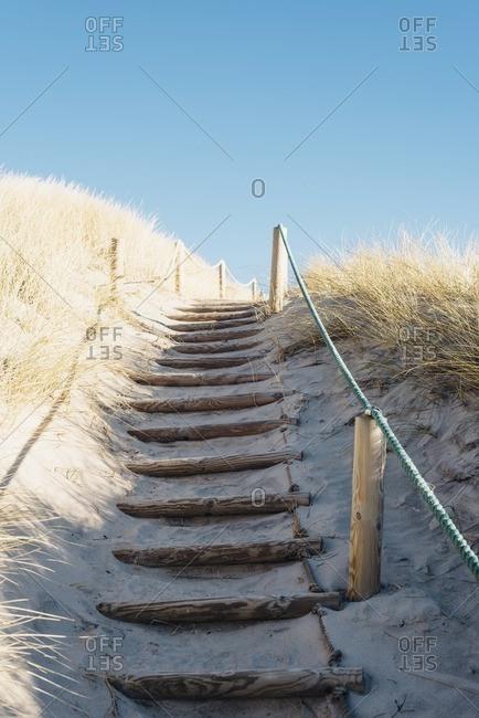 Denmark- Hirtshals- path through dunes