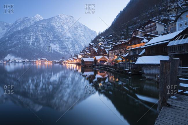 Austria- Salzkammergut- Hallstatt in winter