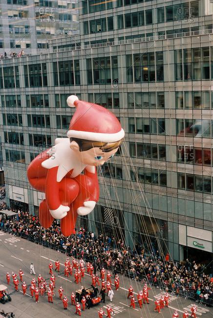New York City - October 14, 2016: Floats at Thanksgiving day parade