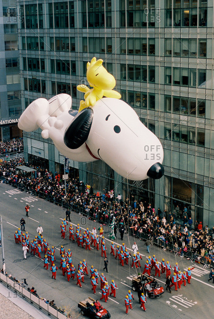 New York City - October 14, 2016: Float at the Thanksgiving day parade