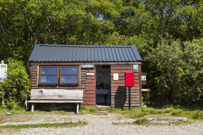 Isle of Mull, Scotland - June 3, 2016: The Old Post Office coffee shop