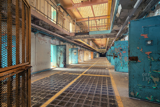 Interior of an abandoned prison